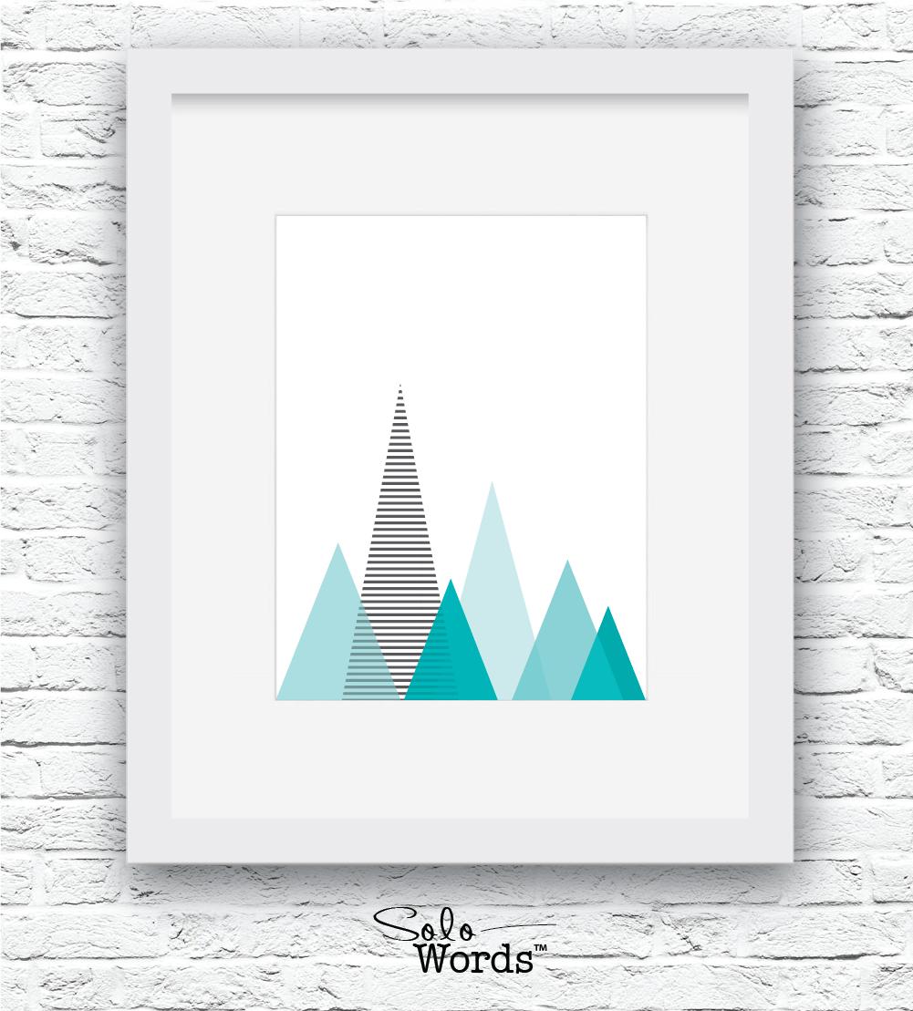 SW-Mountains Turquoise-White-WF