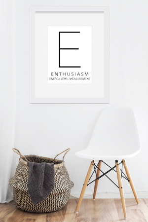 Enthusiasm - Free Printable | SoloWords into Action