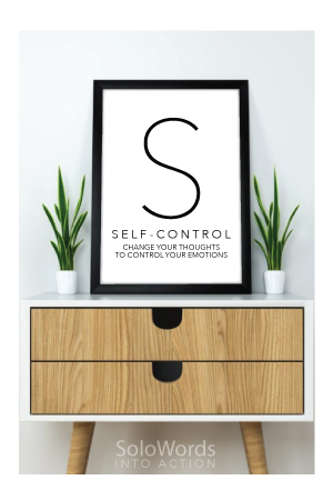 Self-control - Free Printable | SoloWords into Action