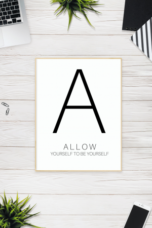 Allow - Free Printable | SoloWords into Action