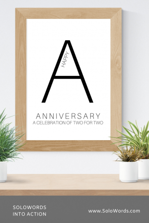 Anniversary - Free Printable | SoloWords into Action