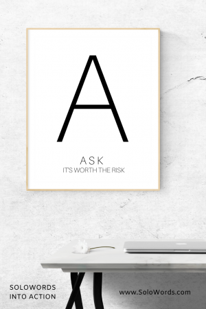 Ask - Free Printable | SoloWords into Action