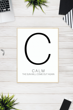 Calm - Free Printable | SoloWords into Action