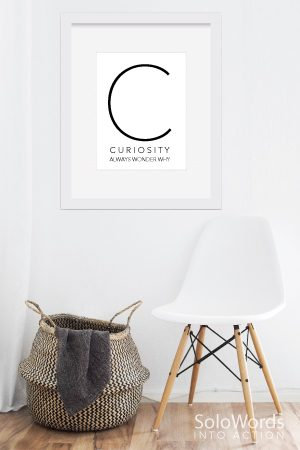 Curiosity-Wall-Art-Free Printable | SoloWords into Action