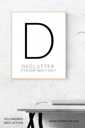 Declutter - Free Printable | SoloWords into Action