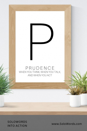 Prudence - Free Printable | SoloWords into Action