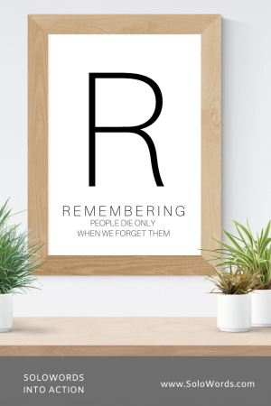 Remembering - Free Printable | SoloWords into Action