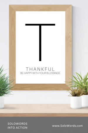 Thankful - Free Printable | SoloWords into Action
